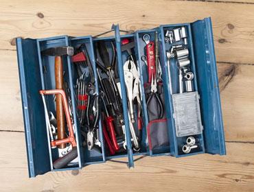 La caisse à outils métallique